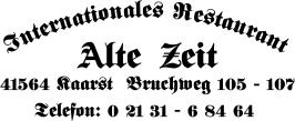 Restaurant ``Alte Zeit``